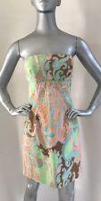 Shoshanna Paisley Print Strapless Dress Size 2