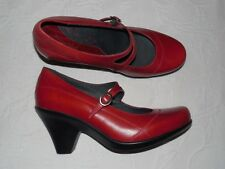 DROMEDARIS Red Leather Mary Janes Heels EU40 US 9 M - NEW