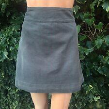 White Stuff Green Eel Short Cord Skirt Size 12