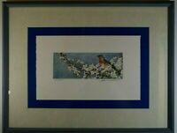ROBERT BATEMAN BLUEBIRD AND BLOSSOMS PRINT FRAMED SIGNED L.E. 20/450