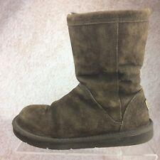 $180 Ugg Australia Roslynn Chocolate Brown Suede 1889 Side Zip Winter Boot Sz 6