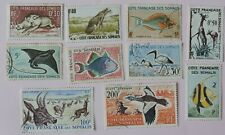 1958-62 part set 10 0f 18 from French Somali coast 6 used 4 MH  CV £40+