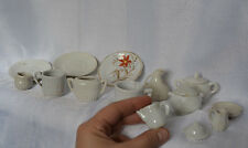 Antique Child Size Tiny Miniature Doll TEA SET Incomplete Ceramic England TOY