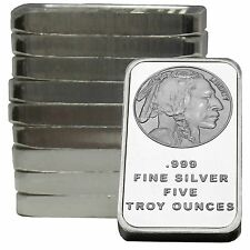 American Buffalo Bar by SilverTowne 5oz .999 Fine Silver Bar (10 pc)