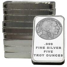 American Buffalo Bar by SilverTowne 5oz .999 Fine Silver Bar (10 pc)