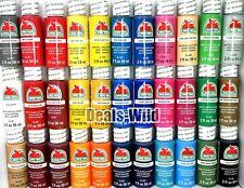 Acrylic Paint Matte Apple Barrel Craft (1) 2oz - Make a set pick from 96 Colors