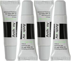 Anthony Mint & White Tea Advanced Formula Lip Balm SPF 25 (Pack of 4)