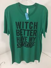 Canvas Sloth Shirts Men'S Witch Better Have My Candy S/S T Shirt Green Med Nwt
