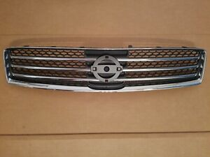 fits 2009-2014 NISSAN MAXIMA Front Bumper Upper Grille Black & Chrome NEW