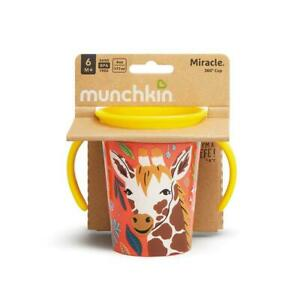 Munchkin Miracle 360 Trainer Cup Wild Love Giraffe Sippy Cup Toddlers 177ml
