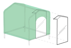 HoundHouse Clear Plastic Flap for Doorway
