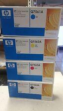 Full Set of Genuine Toners for HP Colour LJ 3000 Brand Printer See Photos