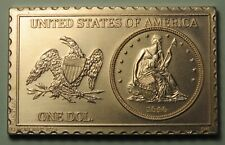 1840 United States Seated Liberty Dollar Numistamp Medal 1976 Mort Reed