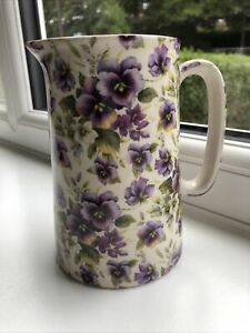 STUNNING Heron Cross Pottery Floral Jug. Brand New. MUST SEE