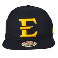 NCAA Zephyr East Tennessee Buccaneers ETSU Flat Bill Snapback Black Hat Cap