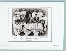 CRICKET  -  UNMOUNTED CRICKET TEAM PRINT - LANCASHIRE - 1895