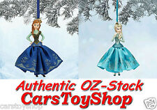 AUTHENTIC Disney Frozen Elsa & Anna set CHRISTMAS ORNAMENT DECORATION Figures