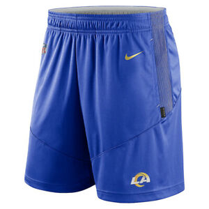 Brand New 2021 NFL Los Angeles Rams Nike Sideline Performance Knit Shorts NWT