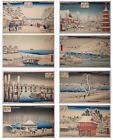 Utagawa Hiroshige Complete Portfolio of 8 Snow Scenes of Eastern Metropolis FINE