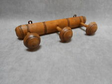 French Antique  Wood COAT & HAT Rack w/ 3 PEGS  FAUX BAMBOO Style