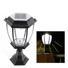 New listing Outdoor Led Solar Lantern Light Yard Garden Walkway Pillar Post Lamp Waterproof