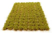 x117 Light green bushy tufts - Self adhesive static model scenery