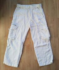 Zara - leichte leinenartige Hose in Weiß - Sommerhose - Gr. M