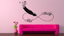 Wall Vinyl Sticker Decals Mural Room Design Feather Birds Stay Strong  bo2405