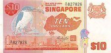Singapore 10 Dollars 1979 XF pn 11a serial B/77 827826