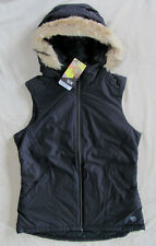 Mountain Hardwear Potrero Insulated Vest Hood with Faux Fur -Black -Size XS -NWT