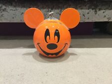 More details for disney mickey mouse shaped halloween pumpkin cookie jar