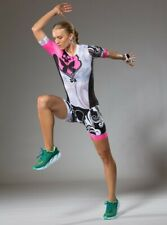 Betty Designs women's pink signature aero sleeved trisuit - M