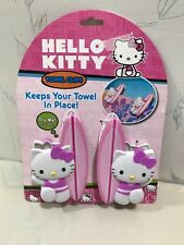 NEW Hello Kitty Pink TOWEL CLIPS for BEACH / POOL TOWELS - 1 set of 2 CLAMPS.