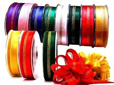 Pull Loop Gift Ribbon 25m Roll For 16 Finished Textile Ribbons, Coloured