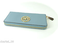 ~ MICHAEL KORS ~ PORTEMONNAIE / GELDBÖRSE FULTON WALLET LEATHER POWDER BLUE