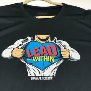 Hibbett Sports Brooks Lead from Within Adult XXL ? Graphic T Shirt Superman