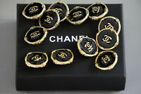 100% Authentic Chanel Buttons logo cc black 💋💋💋 12 pieces 20 mm 0,8 inch