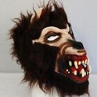 WOLF Vampire BROWN Hair Latex Halloween ADULT Mask Costume Scary NEW WEREWOLF