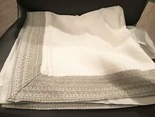 New Restoration Hardware Milou Embroidered Linen Euro Pillow Sham Dune $145