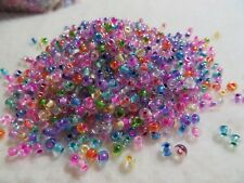 6/0 beads color lined MIXED colors Bag of 400 Czech Glass Seed Beads #286