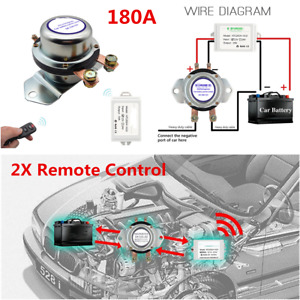 Manual Battery Switch Electromagnetic Disconnect Latching Relay 12V For Car SUV