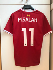 LIVERPOOL 2017 2018 HOME FOOTBALL SHIRT JERSEY M. SALAH #11 Large