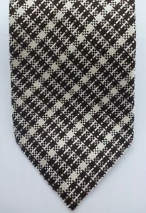 NWT 100% Authentic TOM FORD Men's Dark Brown 100% Silk Tie Made In Italy