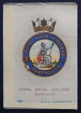 ROYAL NAVAL COLLEGE DARTMOUTH Silk issued in 1915 SCARCE