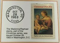 1983 20c The Madonna / Raphael Stamp