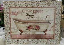 Blechbild Deko Dozen Roses Metall*Schild 25x33  SHABBY Bild