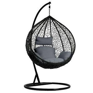 Garden Egg Swing Chair Rattan Furniture Cushion Hanging Outdoor Indoor Patio