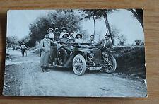 ancienne carte postale sur l automobile