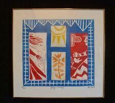 "Signed KIKI Suarez Linoleum Print ""Going & Coming) 1996 250 ed.  RARE!"