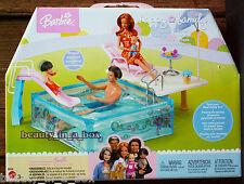 Splash n Slide Pool Playset Happy Family Barbie Doll Alan & Ryan Midge Nikki 1st